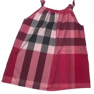 Burberry | Pink Plaid Ruffle Neck Tunic Girls 12